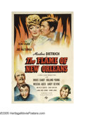 """Movie Posters:Comedy, The Flame of New Orleans (Universal, 1941). One Sheet (27"""" X 41""""). Marlene Dietrich tries to convince her fiancé banker that..."""