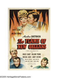 """The Flame of New Orleans (Universal, 1941). One Sheet (27"""" X 41""""). Marlene Dietrich tries to convince her fian..."""