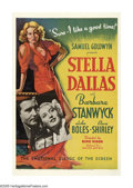 "Movie Posters:Drama, Stella Dallas (United Artists, 1937). One Sheet (27"" X 41"").Barbara Stanwyck stars in the definitive version of ""Stella Dal..."