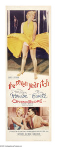 "Movie Posters:Comedy, The Seven Year Itch (20th Century Fox, 1955). Door Panel (20"" X60"") B. Adapted from George Axelrod's Broadway play, with To..."