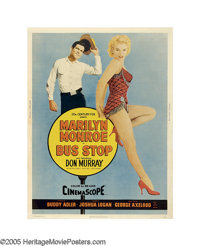 "Bus Stop (20th Century Fox, 1956). Poster (30"" X 40""). Director Joshua Logan had not attracted the reverence o..."