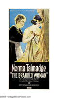 "Movie Posters:Drama, The Branded Woman (First National, 1920). Three Sheet (41"" X 81"").The great silent actress Norma Talmadge stars in this dra..."