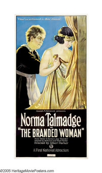 "The Branded Woman (First National, 1920). Three Sheet (41"" X 81""). The great silent actress Norma Talmadge sta..."