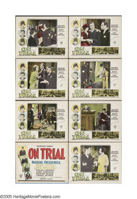 """On Trial (Warner Brothers, 1928). Lobby Card Set of 8 (11"""" X 14""""). Prolific director Archie Mayo helmed this s..."""