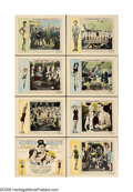 """Movie Posters:Comedy, Cohens and Kellys in Atlantic City (Universal, 1929). Lobby CardSet of 8 (11"""" X 14""""). Third in the """"Cohens and Kellys"""" seri... (8Items)"""