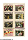 """Movie Posters:Comedy, It Can Be Done (Universal, 1929). Lobby Card Set of 8 (11"""" X 14"""").In this tale of mistaken identity, Jerry Willard (Glenn T... (8Items)"""
