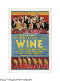 """Wine (Universal, 1924). One Sheet (27"""" X 41""""). In 1924, Clara Bow was not yet an """"It Girl;"""" the film..."""