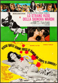 """Movie Posters:Foreign, The Case of the Bloody Iris & Others Lot (Interfilm, 1972). Italian Photobustas (6) (Approximately 25.5"""" X 36.5"""" - 26.25"""" X ... (Total: 6 Items)"""