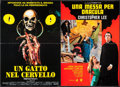 "Movie Posters:Horror, A Cat in the Brain & Other Lot (Lucas Film Ltd., 1990). ItalianFoglios (2) (25.5"" X 37"" & 26.25"" X 37.5""). Horror.. ...(Total: 2 Items)"