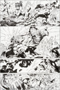 Original Comic Art:Panel Pages, Jim Lee and Scott Williams Justice League #6 Story Page 9Wonder Woman, Aquaman, and Darkseid Original Art (DC, 20...