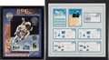 Explorers:Space Exploration, Buzz Aldrin: Numismatic and Philatelic Framed Displays (Two) from His Personal Collection.... (Total: 2 Items)
