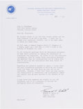 Explorers:Space Exploration, Ed White II 1964 Typed Letter Signed with Content Regarding Hazards in Space. ...