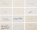 Baseball Collectibles:Others, 1920's-90's Baseball Greats Signed Index Cards, Lot of Approximately 6,000.. ...