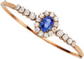 Estate Jewelry:Bracelets, Ceylon Sapphire, Diamond, Rose Gold Bracelet. ...