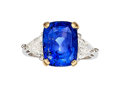 Estate Jewelry:Rings, Ceylon Sapphire, Diamond, Platinum, Gold Ring ...