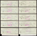 Autographs:Index Cards, Sam Snead Signed Checks Lot of 25.. ...