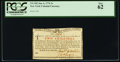 Colonial Notes, New York January 6, 1776 (Water Works) 2s PCGS New 62.. ...