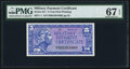 Military Payment Certificates, Series 611 5¢ First Printing PMG Superb Gem Unc 67 EPQ.. ...
