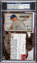 Baseball Collectibles:Others, 2015 Historic Autographs 1951 Bowman Mickey Mantle #253 & Cut Signature PSA/DNA NM-MT 8.. ...