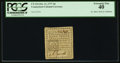 Colonial Notes, Connecticut October 11, 1777 4d PCGS Extremely Fine 40.. ...