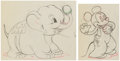 Animation Art:Production Drawing, Mickey's Elephant Mickey Mouse and Bobo Animation DrawingsGroup of 2 (Walt Disney, 1936). ... (Total: 2 )