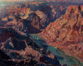 Fine Art - Painting, American:Contemporary   (1950 to present)  , Stephen Juharos (American, 1913-2010). Grand CanyonWilderness, 2009. Oil on canvas. 14 x 18 inches (35.6 x 45.7cm). Si...