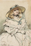 Original Comic Art:Paintings, Thomas Rowlandson A Lady of Quality Original Art (1794)....