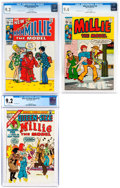 Bronze Age (1970-1979):Humor, Millie the Model #182, 190, and Annual #12 CGC-Graded Group (Marvel 1970-75).... (Total: 3 Comic Books)