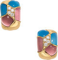 Estate Jewelry:Earrings, Diamond, Multi-Stone, Gold Earrings, Van Cleef & Arpels,French. ...
