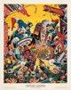 Alex Schomburg Captain America Print #113 of 160 (Buccaneer Graphics & Marvel Comics, 1977)