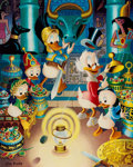 Memorabilia:Disney, Carl Barks The Stone That Turns All Metals Gold Signed Limited Edition Lithograph Print #108/350 (Another Rainbow,...