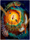 Original Comic Art:Paintings, Anton Brzezinski - Dali-Inspired Abstract Diner Painting OriginalArt (2006)....