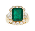 Estate Jewelry:Rings, Emerald, Diamond, Gold Ring . ...