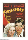 "Movie Posters:Romance, Red Dust (MGM, 1932). One Sheet (27"" X 41""). Clark Gable runs arubber plantation and Jean Harlow plays a working girl down ..."