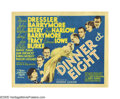 "Movie Posters:Comedy, Dinner at Eight (MGM, 1933). Title Lobby Card (11"" X 14""). ProducerDavid O. Selznick gathered some of the greatest talent a..."