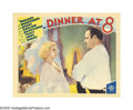 "Movie Posters:Comedy, Dinner at Eight (MGM, 1933). Lobby Card (11"" X 14""). Based on theBroadway hit by George S. Kaufman and Edna Ferber, this co..."