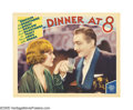 "Movie Posters:Comedy, Dinner at Eight (MGM, 1933). Lobby Cards (2) (11"" X 14""). Afterwinning the previous year's Best Picture Oscar, MGM tried to... (2Items)"