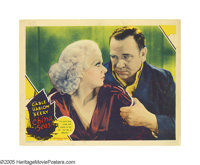 "China Seas (MGM, 1935). Lobby Card (11"" X 14""). Jean Harlow (China Doll) steams up the screen as Clark Gable's..."