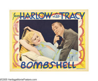 "Bombshell (MGM, 1933). Lobby Card (11"" X 14""). Hold on to your seats boys!, this is one steamy Harlow card. Je..."
