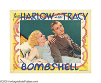 "Bombshell (MGM, 1933). Lobby Card (11"" X 14""). Jean Harlow, in her prime, as ""the blonde bombshell""..."