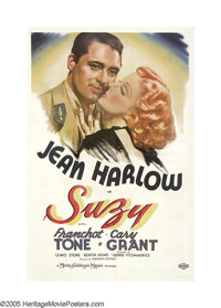 "Suzy (MGM, 1936). One Sheet (27"" X 41""). Following the release of this film, 25-year-old Jean Harlow would onl..."