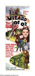 "Movie Posters:Musical, The Wizard of Oz (MGM, R-1949). Insert (14"" X 36""). One of the most enduring and beloved films of all time, this fantastical..."
