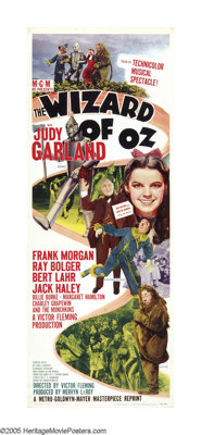 """The Wizard of Oz (MGM, R-1949). Insert (14"""" X 36""""). One of the most enduring and beloved films of all time, th..."""
