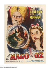 "The Wizard of Oz (MGM, 1939). Italian (39"" X 55""). Time has been powerless to erase the enduring magic of this..."