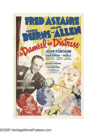 """A Damsel In Distress (RKO, 1937). One Sheet (27"""" X 41""""). Fred Astaire's first film without Ginger Rogers is a..."""