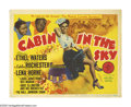 "Movie Posters:Musical, Cabin in the Sky (MGM, 1943). Title Lobby Card (11"" X 14""). This musical masterpiece was directed by Vincente Minnelli and s..."