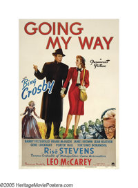 """Going My Way (Paramount, 1944). One Sheet (27"""" X 41""""). Bing Crosby won his only Oscar in this story of a pries..."""