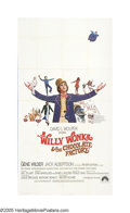 """Movie Posters:Fantasy, Willy Wonka and the Chocolate Factory (Paramount, 1971). ThreeSheet (41"""" X 77""""). This children's fantasy thrilled audiences..."""