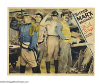 "Duck Soup (Paramount, 1933). Lobby Card (11"" X 14""). Groucho Marx as Rufus T. Firefly is named the dictator of..."