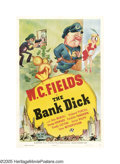 "Movie Posters:Comedy, The Bank Dick (Universal, 1940). One Sheet (27"" X 41""). Comedicgenius W.C. Fields stars as Egbert Souse (and writes under t..."
